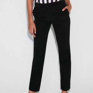 NWT Express Ankle Mid Rise Columnist Ruffle Pants